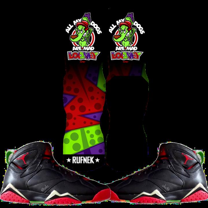 Jordan Martian 7s Custom Socks