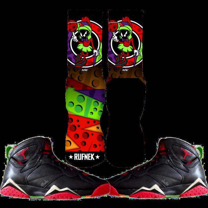 Martian 7s Custom Socks