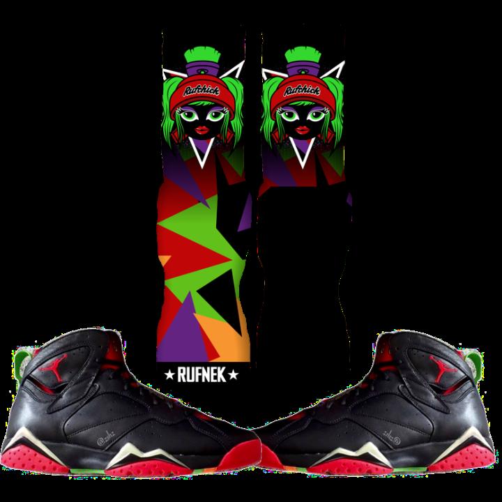 Marvin the Martian 7 Custom Socks