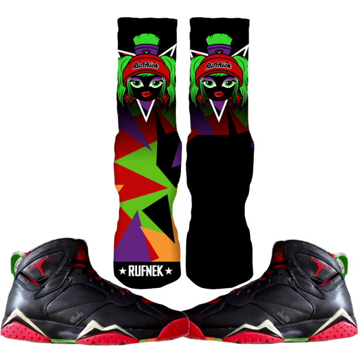 Marvin the Martian 7 Custom Socks