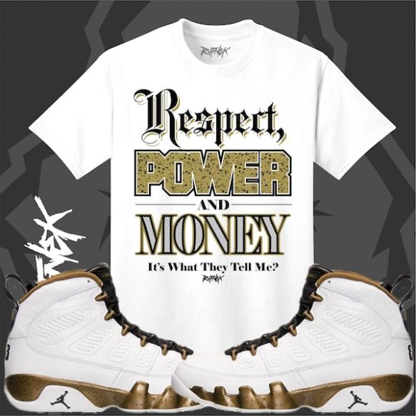 4791f65fb68 ... Sneaker Tee Shirt Jordan 9 Statue Shirt to match Statue 9s Militia ...