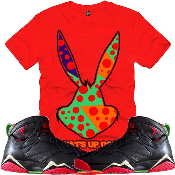 5c822eabf546c9 Sneaker Shirt to match Martian 7s Jordan Martian 7s Shirt.  AJ7  Marvin Martians Sup Doc Crew Blk