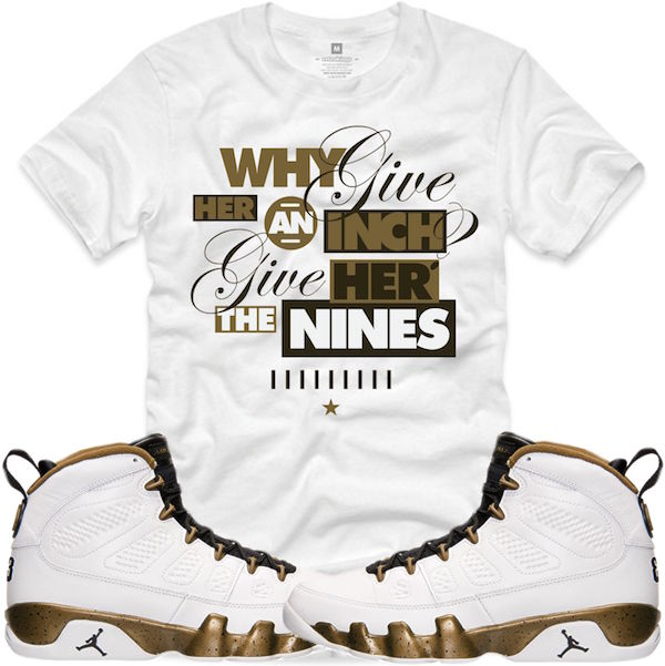 Statue 9s shirts to match jordan shoes