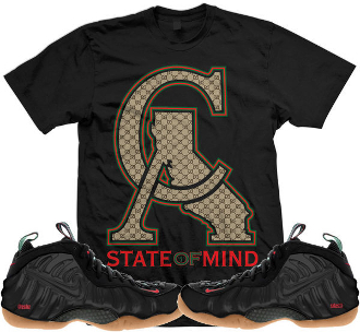 Gucci foamposites sneaker shirts and custom socks for Do gucci shirts run small