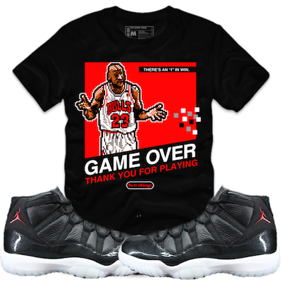 74828b97739cec MJ Stamp Shirt by The Retro Kings. Jordan 11s 72-10 sneaker tee to match