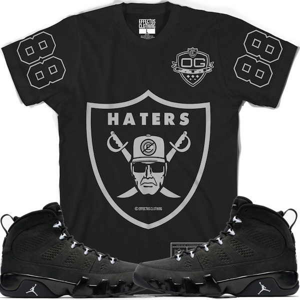 Jordan 9s Anthracite Shirt