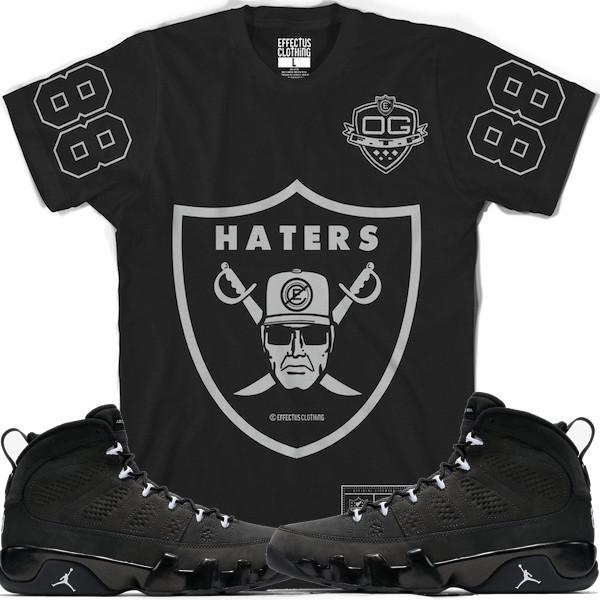 Jordan 9s Anthracite Shirt