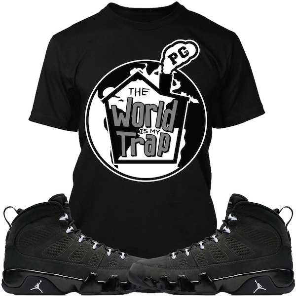 jordan retro 9 anthracite sneaker tee shirts