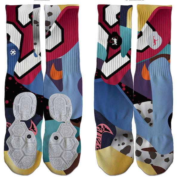 Lebron 12 What the Lebron WTL Custom Socks