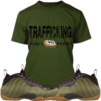 Olive Foamposite Shirt copy