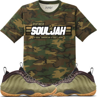 Olive Foamposites Shirts