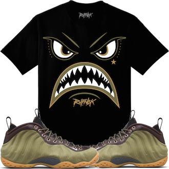 Olive Foamposites Sneakertees