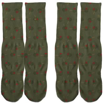 Olive Foamposites Socks