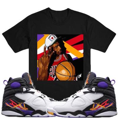 3 peat 8s sneakertees shirts
