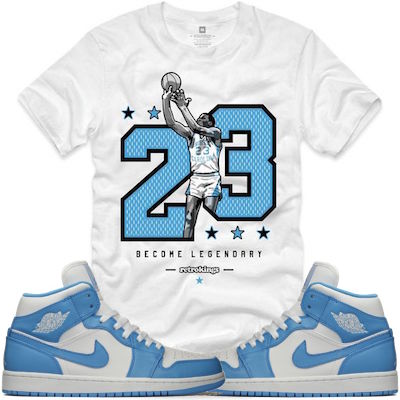 Jordan 1s UNC Shirt