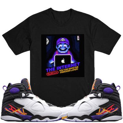 Jordan 8 Three Peat shirt