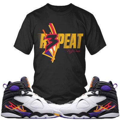 Jordan 8 Three Peat Shirts