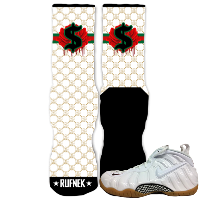 Socks White Gucci Foamposites