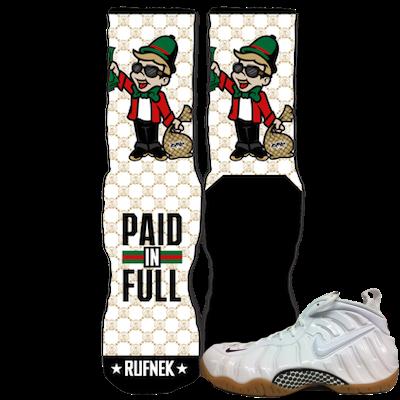 White Gucci Foamposite socks