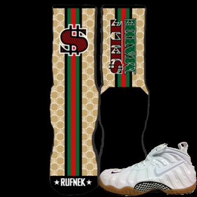 White Gucci Foams Sneaker socks