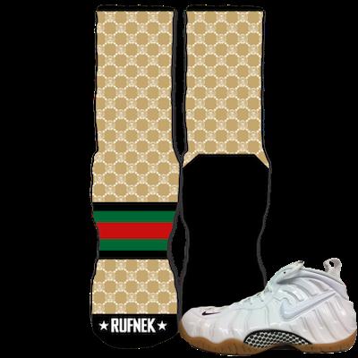White Gucci foams socks