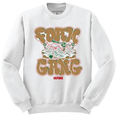 white gucci foams sweat shirts