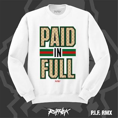 white gucci foams sweater