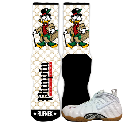 White Gucci Socks Foams
