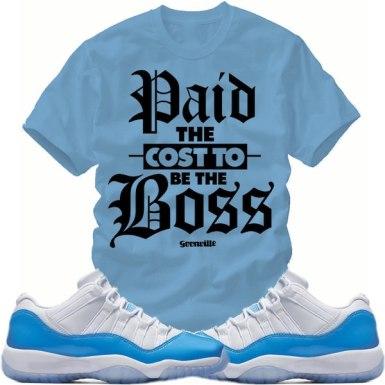 "info for edc0f 900b3 Match Sneaker Tees – Jordan Retro 11 Low ""UNC"" Shirts | X ..."