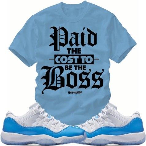 "f0049142412 Match Sneaker Tees – Jordan Retro 11 Low ""UNC"" Shirts – X Gear 101 ..."