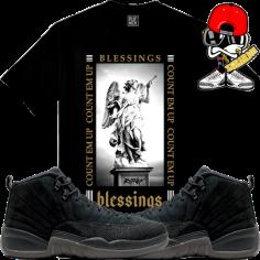 jordan-12-ovo-black-sneaker-tees-shirts