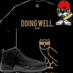 jordan-12-ovo-black-sneaker-tees-t-shirts