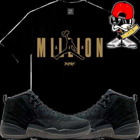 jordan-12-ovo-black-sneaker-tees
