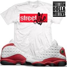 newest 5ac8d cf0e9 jordan-13-chicago-cherry-match-sneaker-tees-shirts