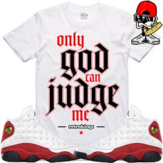 jordan-retro-13-cherry-chicago-tees-match-shirts
