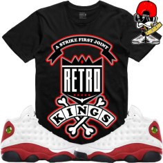 sneaker-tees-jordan-retro-13-cherry-chicago-shirts-match